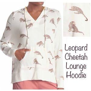 Cheetah Lounge PJ Hoodie NWT